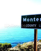 Highway One Monterey wall mural thumbnail