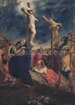Christ on the Cross, 1835 (oil on canvas) mural wallpaper thumbnail