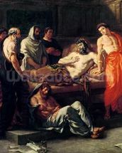 Study for The Death of Marcus Aurelius (121-180), before 1844 (oil on canvas mural wallpaper thumbnail