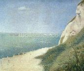 Beach at Bas Butin, Honfleur, 1886 mural wallpaper thumbnail