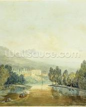 Villa Salviati on the Arno, c.1796-97 (w/c on pencil on paper laid on mount) mural wallpaper thumbnail