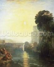 Dido building Carthage, or The Rise of the Carthaginian Empire, 1815 (oil on canvas) wall mural thumbnail