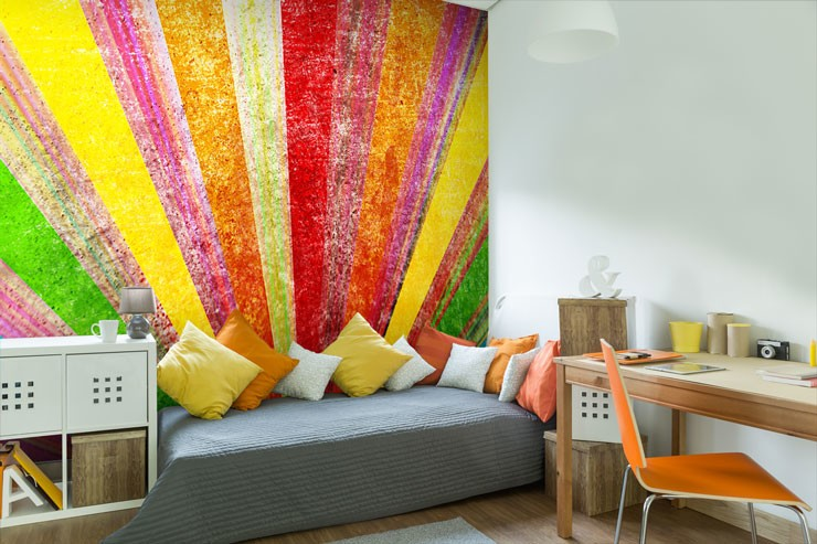 Colourful-striped-wallpaper