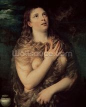 Mary Magdalene (oil on canvas) wall mural thumbnail