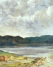 The Black Lake, 1872 (oil on canvas) wall mural thumbnail