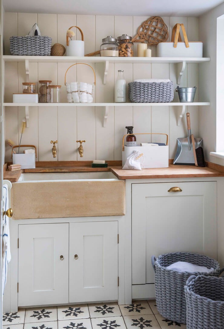 quaint vintage style laundry room