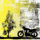 Retro Motorcycle mural wallpaper thumbnail