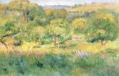The edge of a forest in Brittany, 1893 wall mural thumbnail