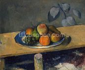 Apples, Pears and Grapes, c.1879 (oil on canvas) wallpaper mural thumbnail