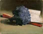 Bouquet of Violets, 1872 (oil on canvas) wallpaper mural thumbnail