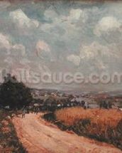 Turning Road or, View of the Seine, 1875 (oil on canvas) wallpaper mural thumbnail
