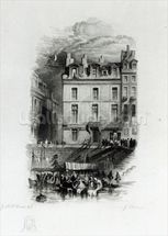 Napoleons Lodgings on the Quai Conti, 1834-36 (engraving) wall mural thumbnail