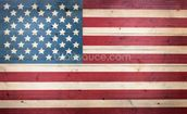 Stars and Stripes on Wood wallpaper mural thumbnail