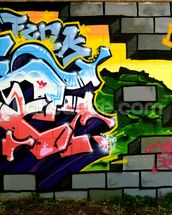 Breach the Wall of Graffiti mural wallpaper thumbnail