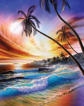 Tropical Beach mural wallpaper thumbnail