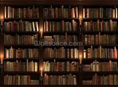 Bookcase and Candles wallpaper mural thumbnail
