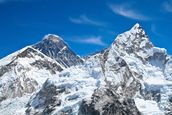 Everest and Lhotse mountain peaks view from Kala Pattar, Nepal mural wallpaper thumbnail