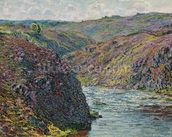 Ravines of the Creuse at the End of the Day, 1889 (oil on canvas) mural wallpaper thumbnail