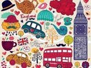 Kids London Montage wall mural thumbnail