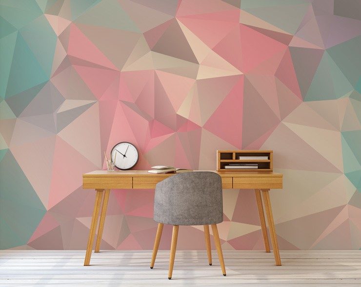 3d wallpaper in home office