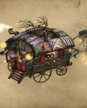 Gypsy Wagon wallpaper mural thumbnail