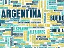 Argentina World Cloud wall mural thumbnail