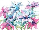 Lily Flowers wall mural thumbnail