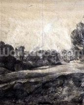 A Dell, c.1805 (black chalk on buff paper) wallpaper mural thumbnail