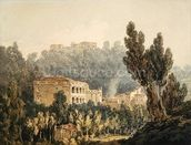 In the Valley near Vietri, c.1794 (w/c over graphite on paper) mural wallpaper thumbnail