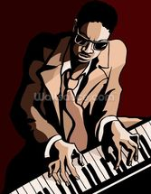 Jazz Pianist wall mural thumbnail