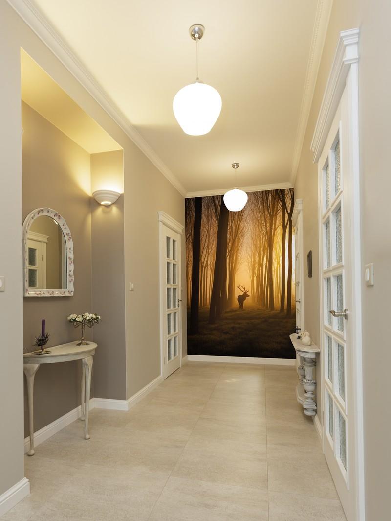 Hallway decor ideas wallsauce for Hallway wallpaper ideas
