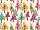 Colourful Christmas Trees wall mural thumbnail