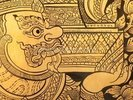 Traditional Thai style painting. wall mural thumbnail