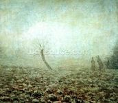 Landscape, 1874 (oil on canvas) wall mural thumbnail