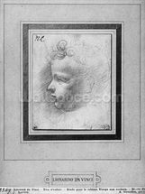 Head of a child (pencil on paper) (b/w photo) wallpaper mural thumbnail