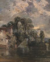 Willy Lots Cottage, near Flatford Mill wall mural thumbnail