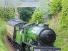 Steam Train in Countryside wall mural thumbnail