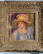 Woman with a hat, c.1915-19 ? (oil on canvas) wall mural thumbnail