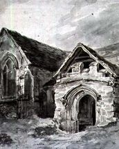 Porch and Transept of a Church, c.1850-11 (w/c on paper) wall mural thumbnail