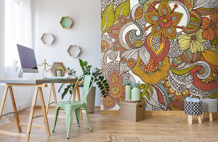 doodle_mural_in_home_office