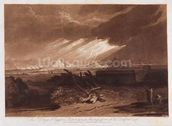 The Fifth Plaque of Egypt, engraved by Charles Turner (1773-1857) 1808 (etching and mezzotint printed in brown ink on paper) wallpaper mural thumbnail