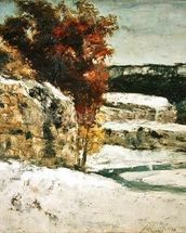Winter Landscape, 1865-70 (oil on canvas) wall mural thumbnail