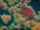 Aerial of wetland wall mural thumbnail