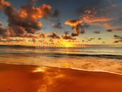 Colourful Australian Sunset mural wallpaper thumbnail
