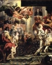 The Coronation of Marie de Medici (1573-1642) at St. Denis, 13th May 1610, 1621-25 (oil on canvas) wallpaper mural thumbnail