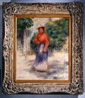 Gabrielle in the garden, c.1905 ? (oil on canvas) wallpaper mural thumbnail