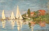 Regatta at Argenteuil, c.1872 (oil on canvas) wallpaper mural thumbnail