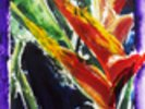 Heliconia - Batik On Rice Paper wall mural thumbnail