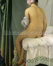 The Bather, called Baigneuse Valpincon, 1808 (oil on canvas) wallpaper mural thumbnail