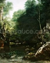 The Covered Stream, or The Dark Stream, 1865 (oil on canvas) wall mural thumbnail